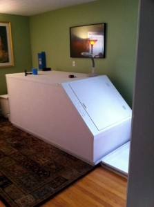 Robert Scheinfeld's sensory deprivation tank